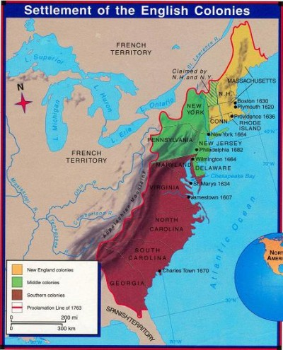 The History Of English Late Modern English C Present - Us colonies and england world map