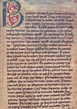First page of the Peterborough Chronicle (one of the Anglo-Saxon Chronicles)
