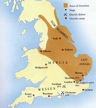 Map Of England In 9th Century.The History Of English Old English C 500 C 1100