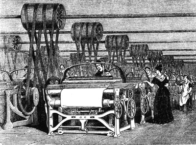 The history of english late modern english c 1800 present steam powered looms were just one of the innovations of the industrial revolution publicscrutiny Choice Image